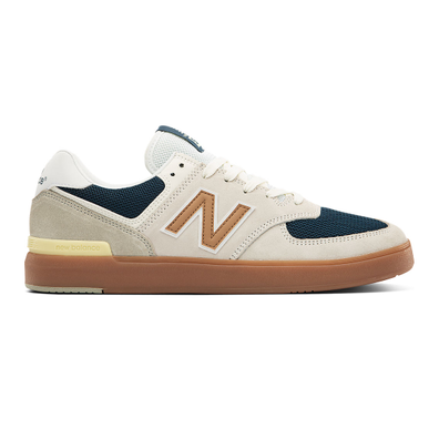 New Balance All Coasts 574 - White with Gold productafbeelding