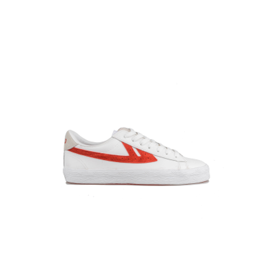 Warrior Dime Leather White Red productafbeelding