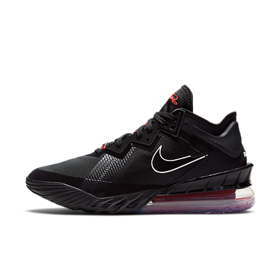Nike Lebron 18 Low Black Red productafbeelding