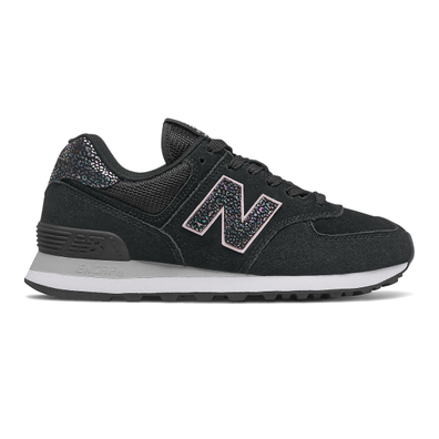 New Balance 574 - Black with White productafbeelding