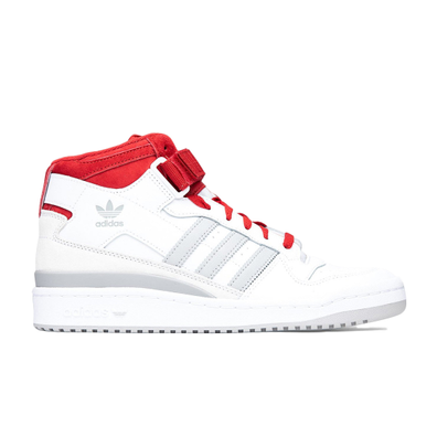 adidas Forum Mid White Red Grey productafbeelding