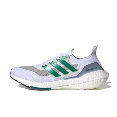 adidas UltraBoost 21 'White/Green' productafbeelding
