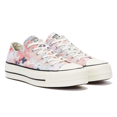 Converse All Star Lift Summer Daze Ox Womens White / Pink Trainers productafbeelding