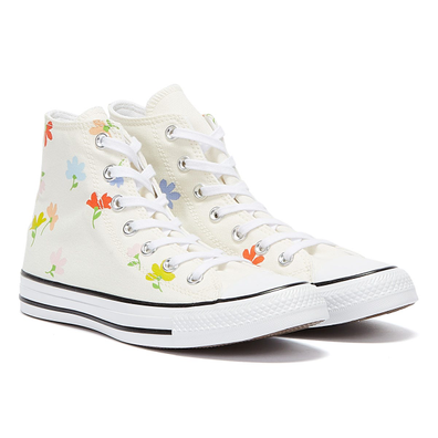 Converse All Star Garden Party Hi Womens Cream / Multi Trainers productafbeelding