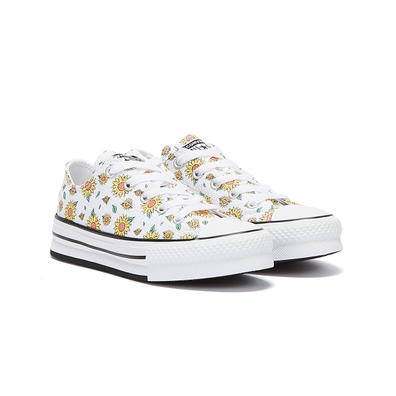 Converse All Star Lift Sunflower Junior White Trainers productafbeelding