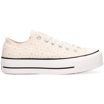 Canvas Broderie Platform Chuck Taylor All Star Low Top productafbeelding