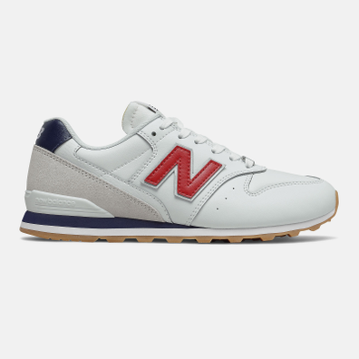 New Balance 996 - White with Team Red productafbeelding