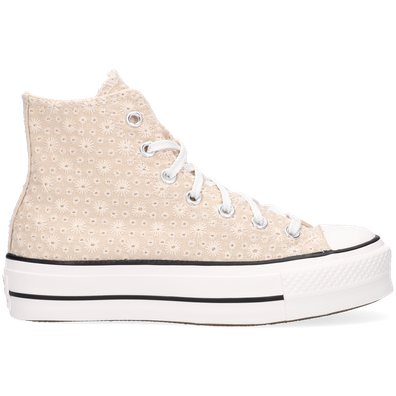 Canvas Broderie Platform Chuck Taylor All Star High Top productafbeelding