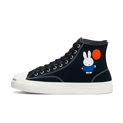 Pop Trading x Miffy x Converse Jack Purcell 'Nijntje Balloon' - Black productafbeelding