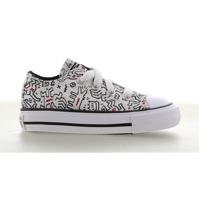 Converse x Keith Haring Chuck Taylor All Star Low Top voor peuters productafbeelding