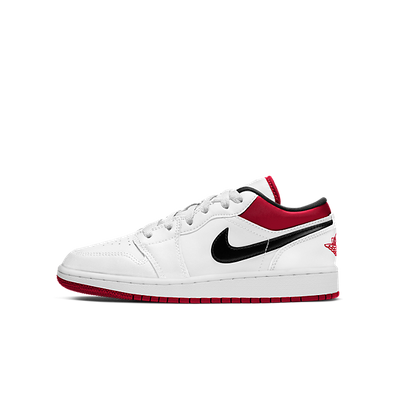 Jordan 1 Low White Gym Red (GS) productafbeelding