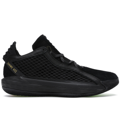 adidas Dame 6 Leather Black Gold productafbeelding