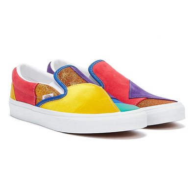 Vans Pride Classic Slip On Womens Patch / White Trainers productafbeelding