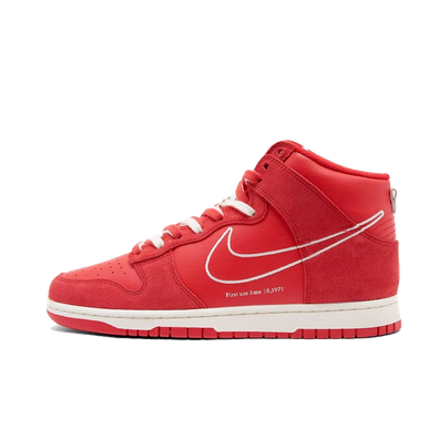 Nike Dunk High 'First Use' - Red productafbeelding