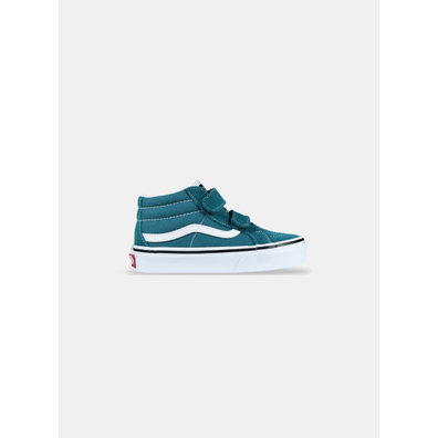 Vans Sk8-Mid V Blue Coral True White PS productafbeelding