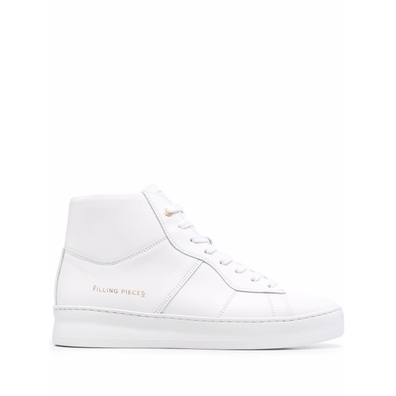 high-top panelled leather productafbeelding