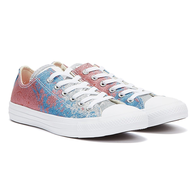 Converse Chuck Taylors All Star Low Women Pink Salt / University Blue Trainers productafbeelding