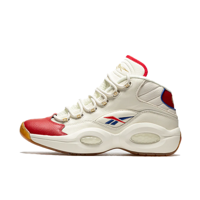 Reebok Question Mid White Red Blue productafbeelding