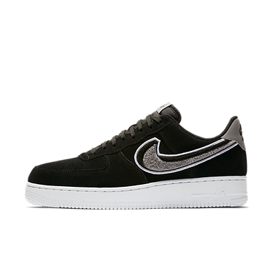Nike Air Force 1 07 LV8 Chenille Swoosh 'Black' productafbeelding