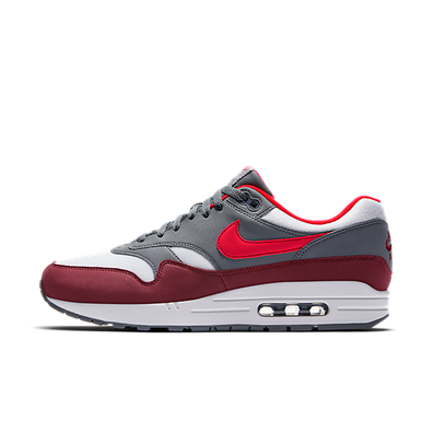 Nike Air Max 1 White/University Red-Cool Grey productafbeelding