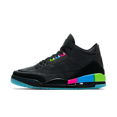 Jordan 3 Retro Quai 54 Black Multi productafbeelding