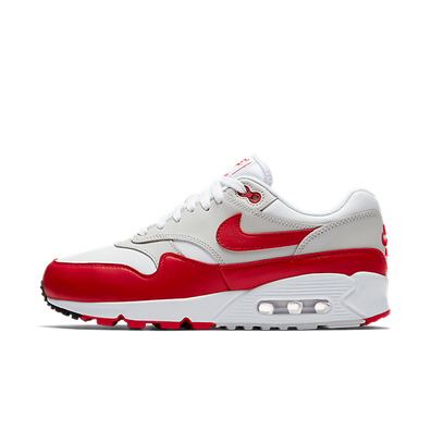 Nike Wmns Air Max 90/1 'White / University Red - Neutral Grey - Black' productafbeelding