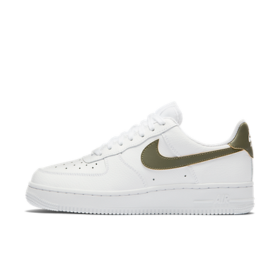 Nike Women's Air Force 1 '07 'White/Medium Olive' productafbeelding