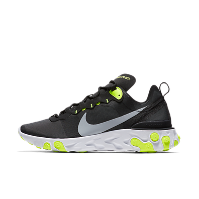 Nike React Element 55 'Black/Volt' productafbeelding