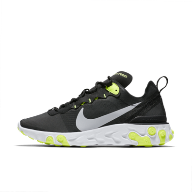 Nike WMNS React Element 55 'Black/Volt' productafbeelding