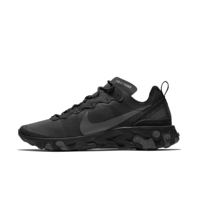Nike React Element 55 'Triple Black' productafbeelding