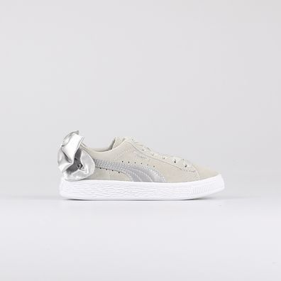 Puma Suede Bow AC Grey Kids productafbeelding
