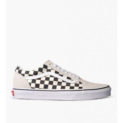 Vans Ua Old Skool Checkerboard White Black productafbeelding