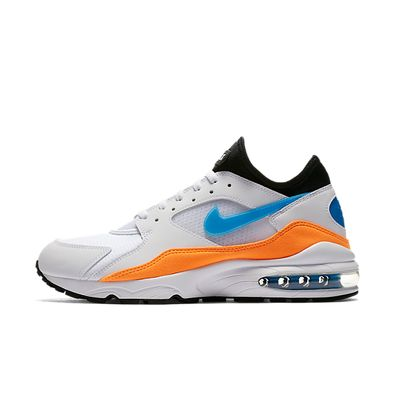 Nike Air Max 93 White Blue Nebula Total Orange productafbeelding