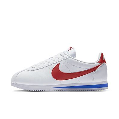 Nike Classic Cortez Leather - White / Varsity Royal / Varsity Red productafbeelding