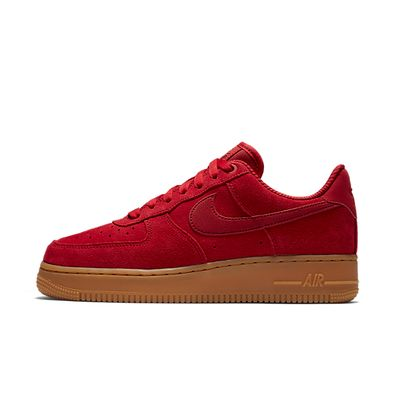 Nike Wmns Air Force 1 '07 SE - Speed Red / Speed Red - Gum Light Brown