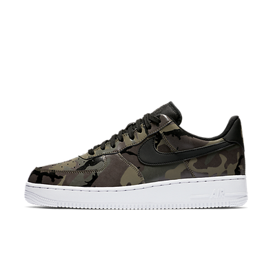 "Nike Air Force 1 '07 Lv8 ""Medium Olive/Black"" Camo productafbeelding"