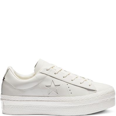 Converse One Star Platform Patented '90s Leather Low Top productafbeelding