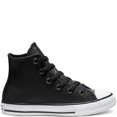 Converse Chuck Taylor All Star Graphite Glitter Leather High Top productafbeelding