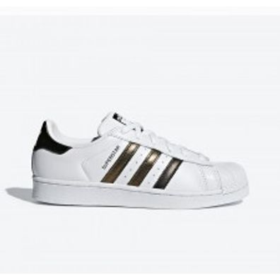adidas Superstar womens - White Gold productafbeelding