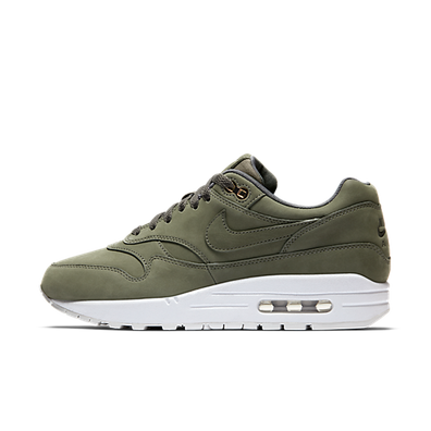 "Nike Air Max 1 Premium ""Nubuck Army Green"" productafbeelding"