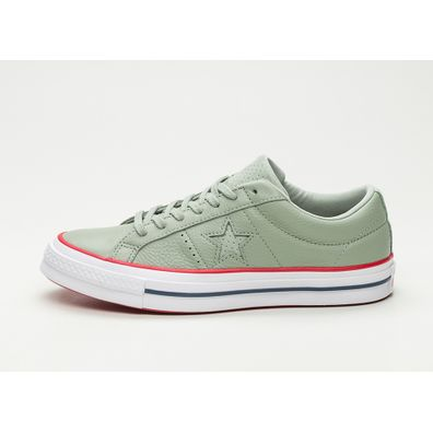 Converse One Star Ox (Surplus Sage / Gym Red / White) productafbeelding