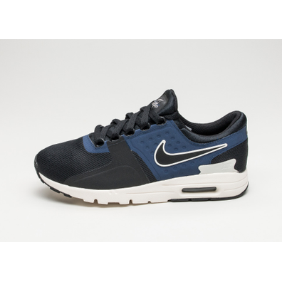 Nike Wmns Air Max Zero (Black / Black - Ivory - Binary Blue) productafbeelding