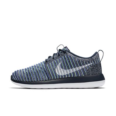 Nike Wmns Roshe Two Flyknit (College Navy / White - Binary Blue) productafbeelding