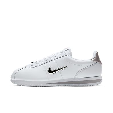 Nike Cortez Basic Jewel (White / Metallic Silver) productafbeelding