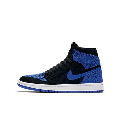 Nike Air Jordan 1 Retro High Flyknit BG (Black / Game Royal - White) productafbeelding