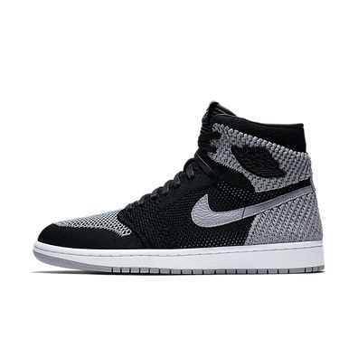 Nike Air Jordan 1 Retro High Flyknit (Black / Wolf Grey - White) productafbeelding