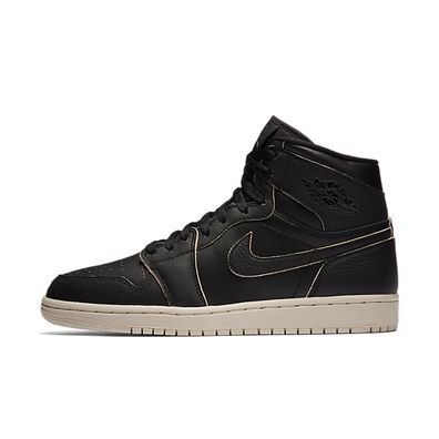 Nike Air Jordan 1 Retro High Premium (Black / Black - Desert Sand) productafbeelding