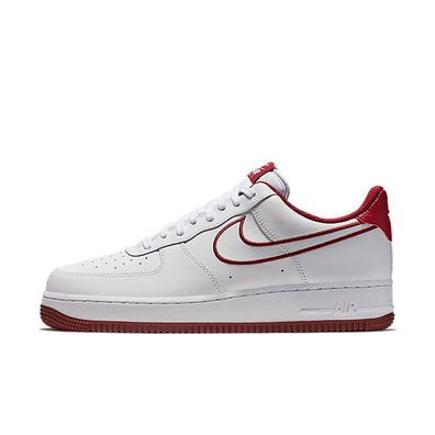 Nike Air Force 1 '07 Leather (White / Team Red) productafbeelding