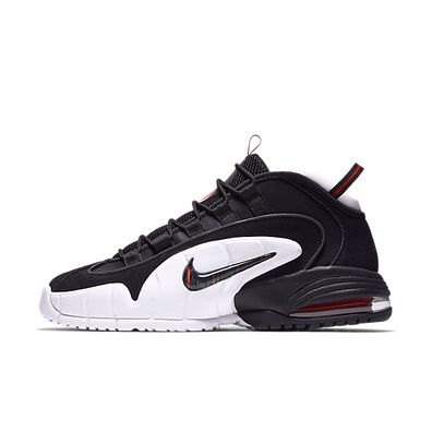 Nike Air Max Penny (Black / Black - White - University Red) productafbeelding