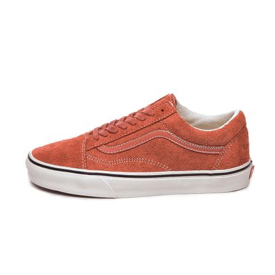 Vans Old Skool *Hairy Suede* (Hot Sauce / Snow White) productafbeelding
